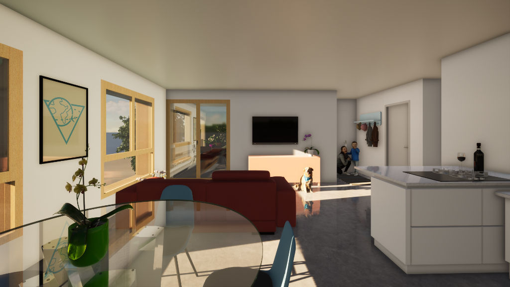 Appartement Paladru 2 pièce(s) 44.6m2  BAT D LOGEMENT D103