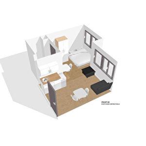Appartement plateau Lyon 1 piece 20 m2