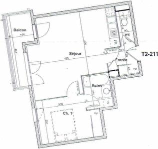 APPARTEMENT VENISSIEUX - 2 pieces - 44 m2