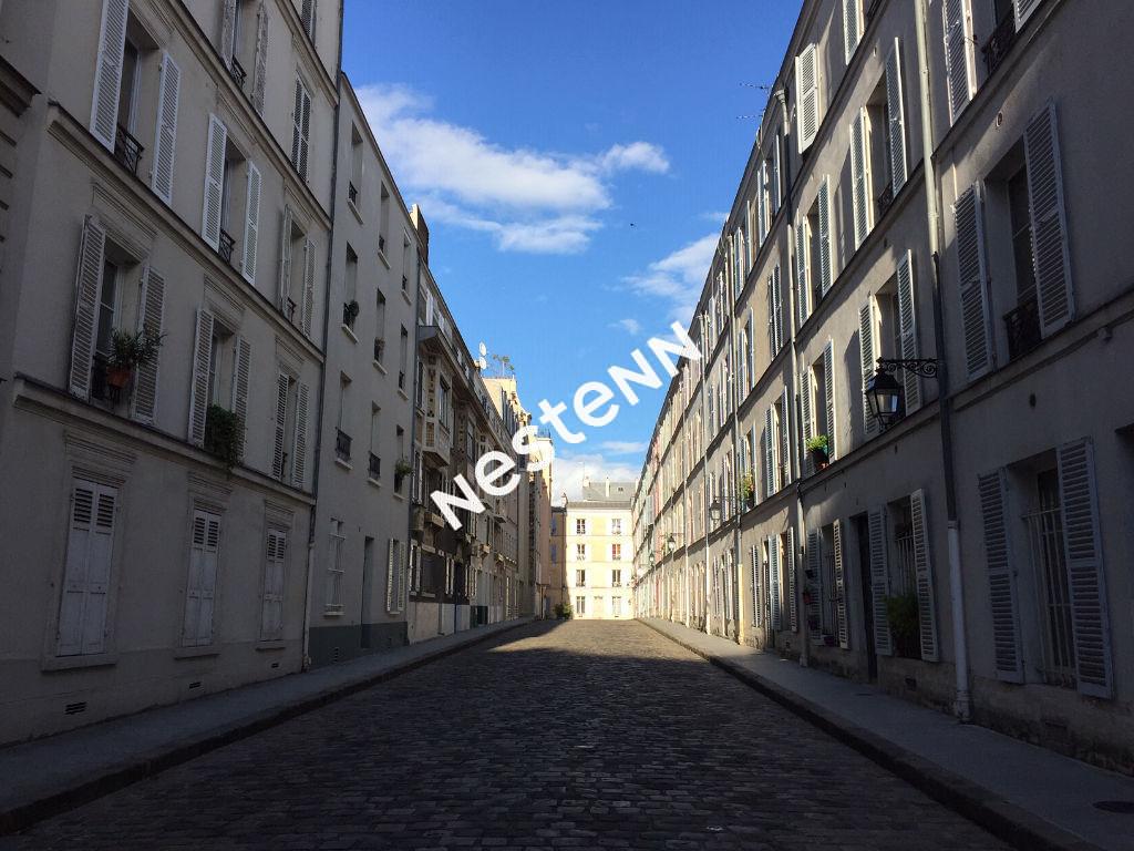 PARIS 14EME-METRO RASPAIL, PASSAGE D'ENFER, 2 PIÈCES AVEC MEZZANINE ET CAVE.