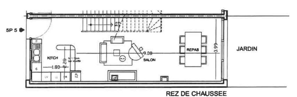 BAS MONTREUIL, AVENUE DU PRESIDENT WILSON LIMITE VINCENNES, PROGRAMME VILLA WILSON, TRIPLEX DE 119M² AVEC JARDIN PRIVATIF DE 51M²
