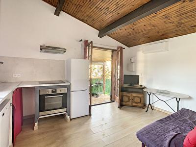 Maisonnette 2 pieces proche d'Agosta plage de 28.2 m2 avec jardinet