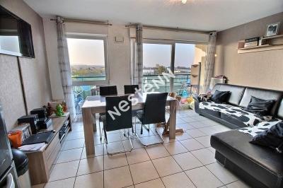 Appartement Metz Woippy Lumineux F3 2 chambres terrasse - Stationnement ferme - Copropriete recente