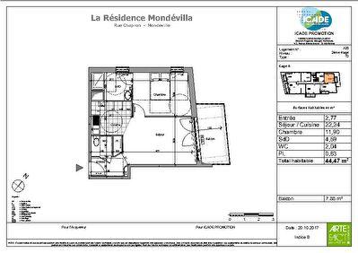 Appartement Mondeville 2 pieces 44.47 m2