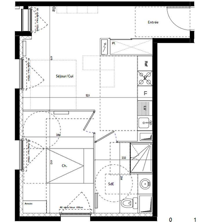 Programme neuf Montpellier T2 résidence Casa Moov