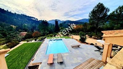Maison Belgentier 5 pieces 155 m2 - Calme - Vue dominante - Piscine - Garage - Magnifiques prestations