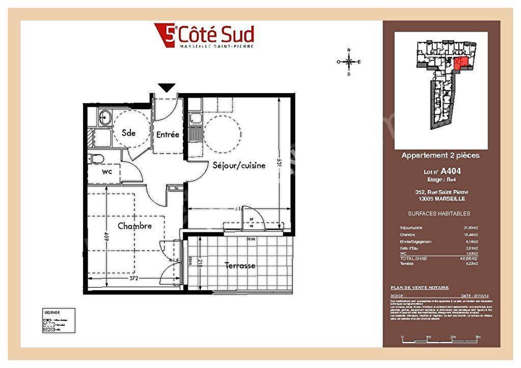 photos n°1 Appartement Marseille 2 pièce(s) 48,66 m2