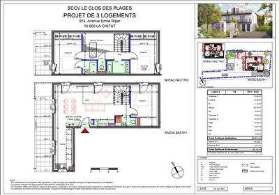 Appartement T4 en duplex de 89 m2 avec terrasses
