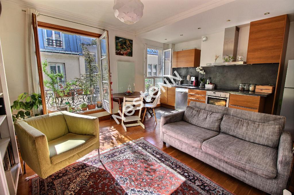 photos n°1 75020 - Gambetta - Appartement  3 pièces - dernier étage - traversant et lumineux