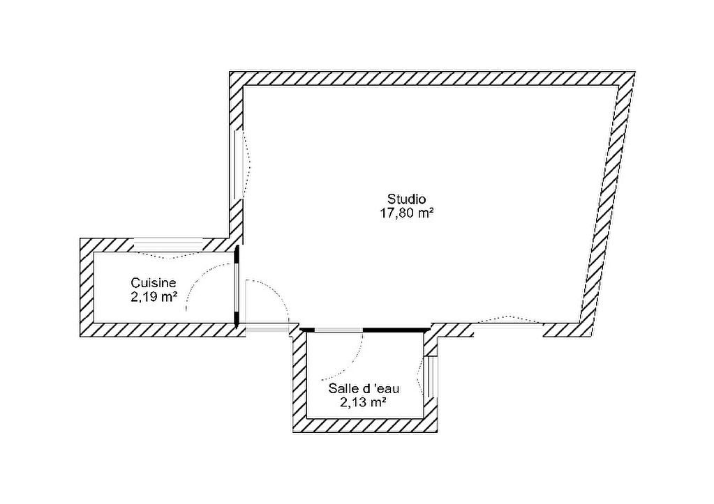 Exclusivité Nestenn-Studio de 22m2 à rénover entièrement-Belleville