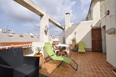 Appartement Marseille (13010) 2 pieces 47,42 m2 + terrasses 22m2 et 11m2