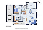 Maison contemporaine - 2015 - 139m² - 3 chambres et 1 bureau - Le Fenouiller 15/16