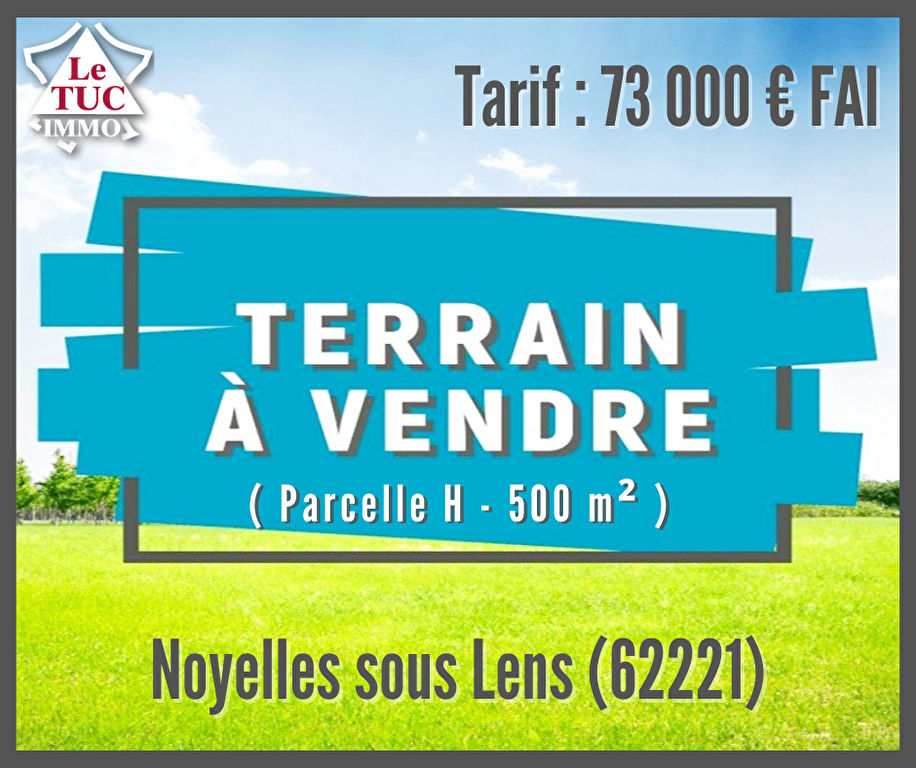 Terrain Noyelles Sous Lens 500 m2