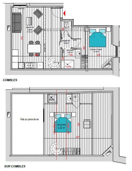 APPARTEMENT EN DUPLEX 2 CHAMBRES POITIERS 82.68 M² AU SOL