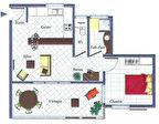 Secteur Cayenne Baduel, à vendre T2, résidence sécurisée avec piscine 3/4
