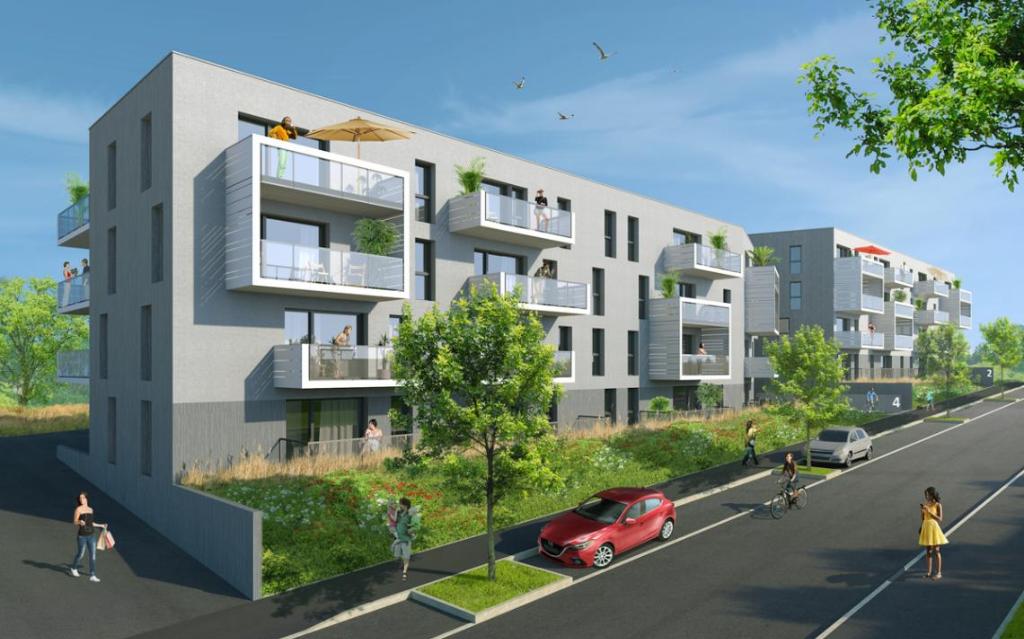 GUIPAVAS - Appartement T2 neuf de 41m² avec balcon et place de stationnement