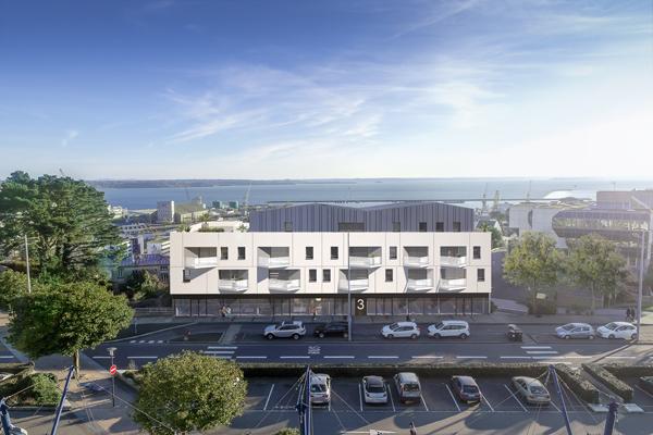 Brest-Centre T3 neuf avec ascenseur