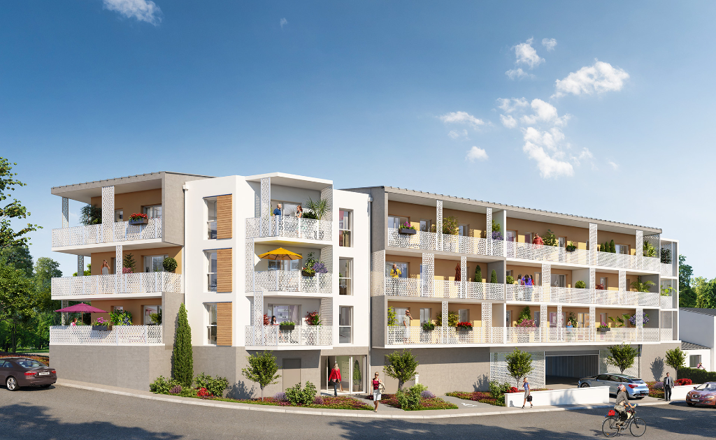 GUIPAVAS - Appartement T3 neuf de 66m² avec cave, garage et une place de stationnement