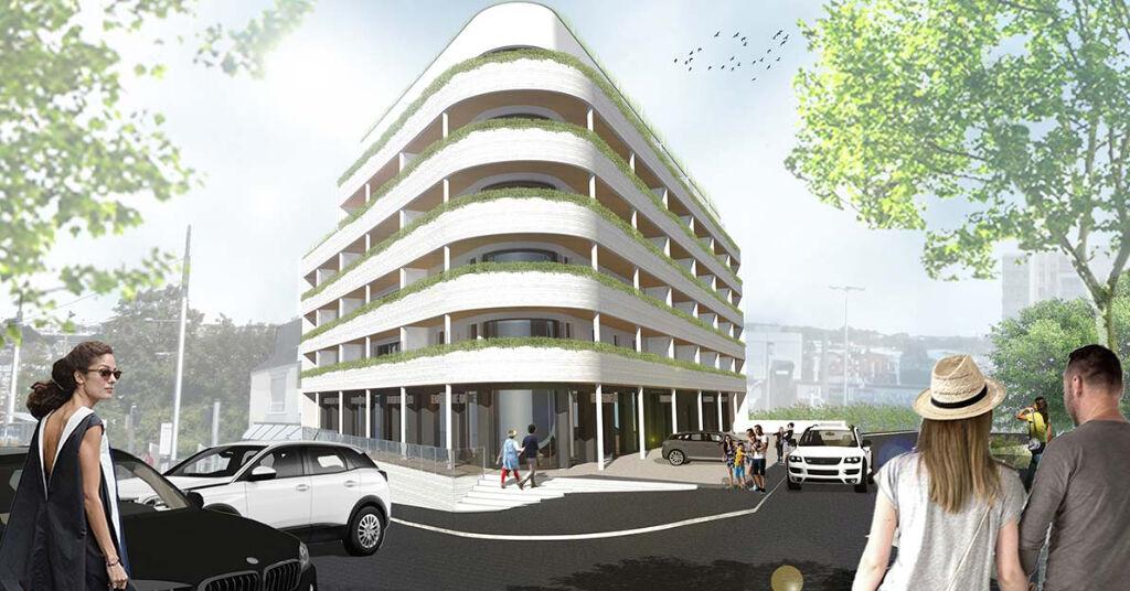 Bureaux neufs Brest secteur Géant 129 m2