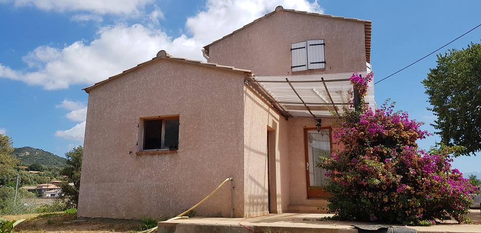 Ajaccio proche Rocade Maison 90 m2, Terrain 3 000m²
