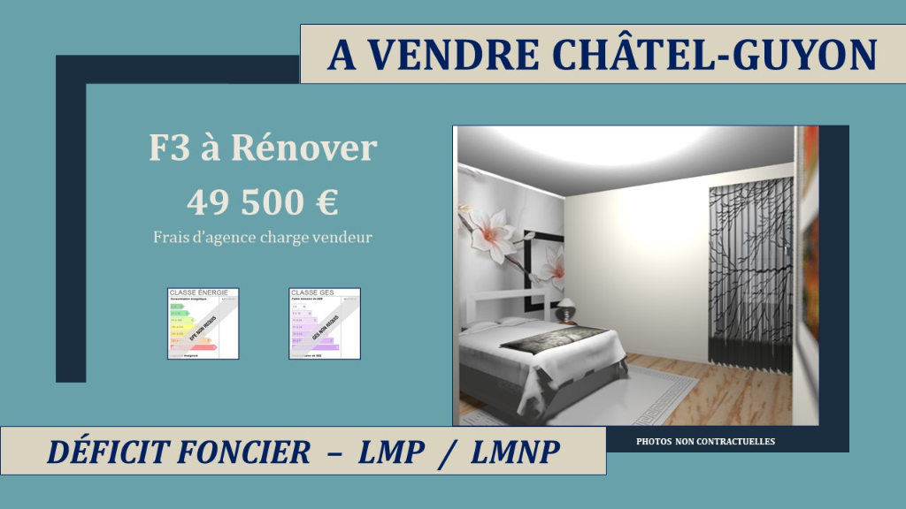 Chatelguyon Appartement F3 à rénover