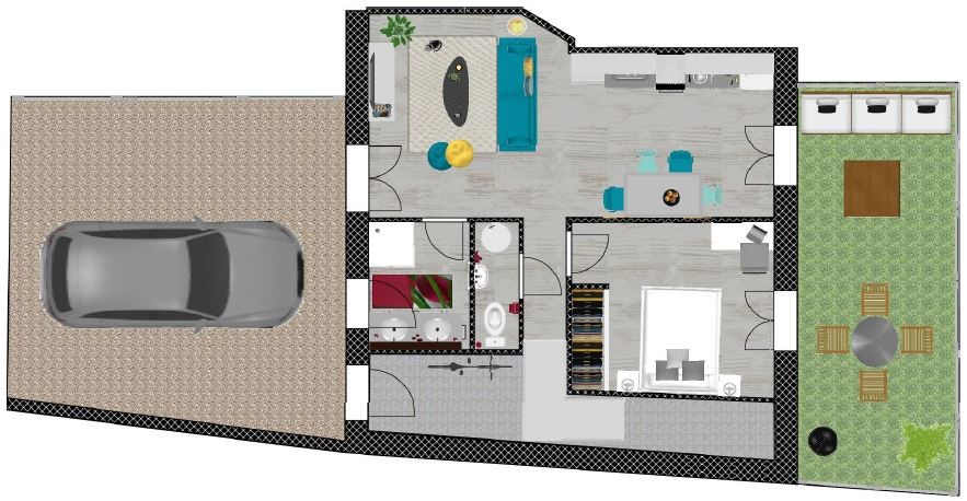 Chatelguyon F3 à rénover avec cour et terrasse