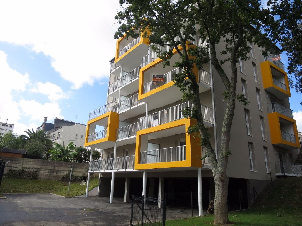 A LOUER BREST VALLON DU STANGALARD APPARTEMENT T2 40.16 m² RÉSIDENCE NEUVE JARDIN PRIVATIF