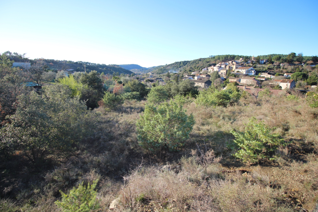 Terrain Saint Bres 1200 m2 vue dominante