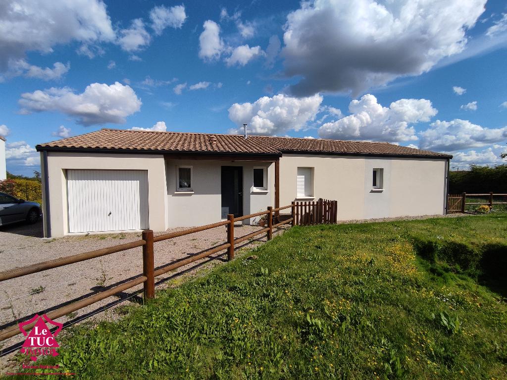 Pavillon de 2014 de 101 m2 commune ARGENTONNAY