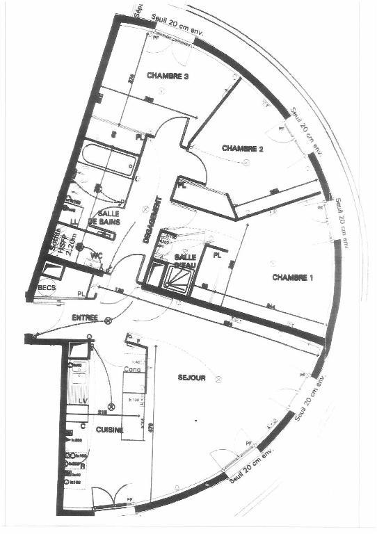 Appartement Chatillon 4 pièce(s) 84.70 m2