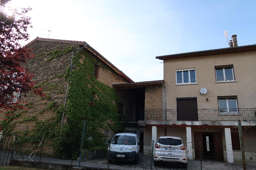 AMBERIEU EN BUGEY - Ensemble de 2 maisons de ville T4 avec jardin et garage