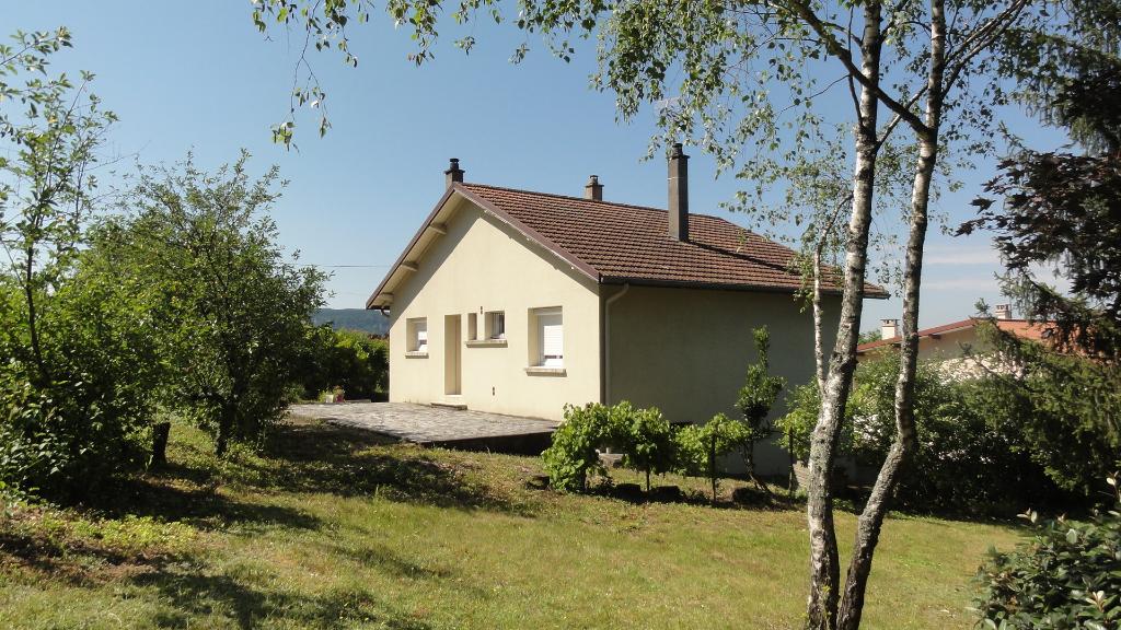 Lagnieu Maison T4 sur sous-sol , terrain 1000m²