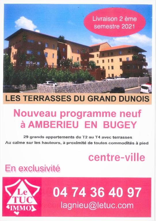 AMBERIEU EN BUGEY CENTRE - Appt T3 neuf de 63 m2 avec balcon