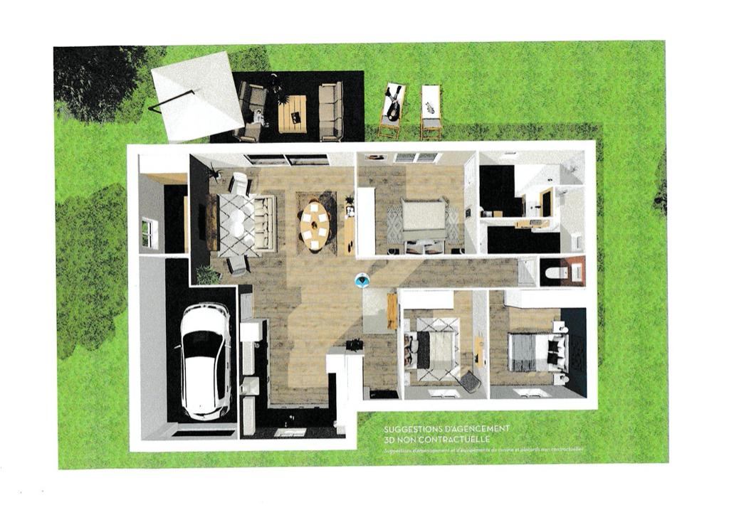 EXCLUSIVITÉ: MESCHERS SUR GIRONDE Maison neuve 97,76 m2 environ