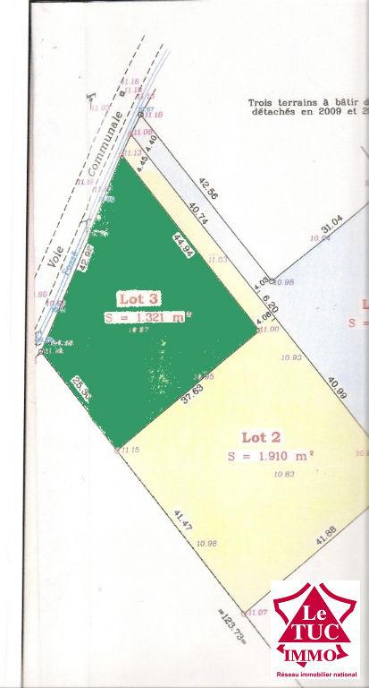 Terrain Saint Aubin De Blaye 1321 m2