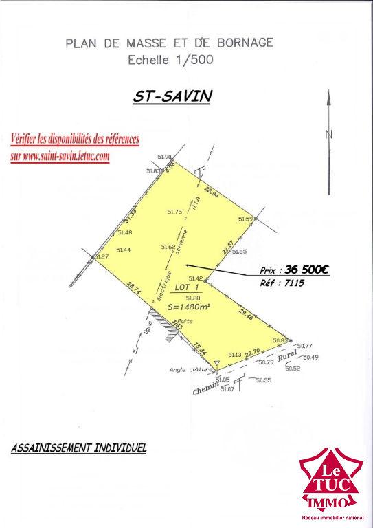 SAINT-SAVIN TERRAIN 1480 M²