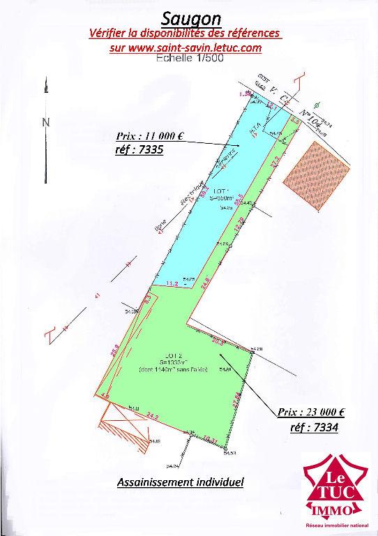 SAUGON TERRAIN 1 333 m² CONSTRUCTIBLE