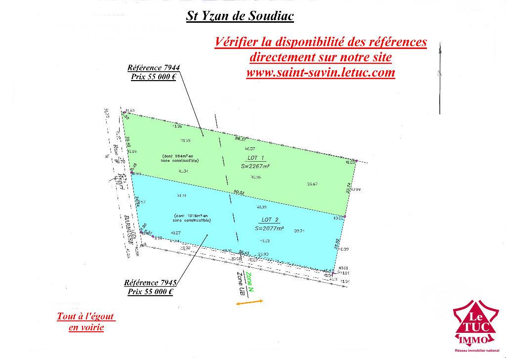 SAINT-YZAN DE SOUDIAC TERRAIN CONSTRUCTIBLE