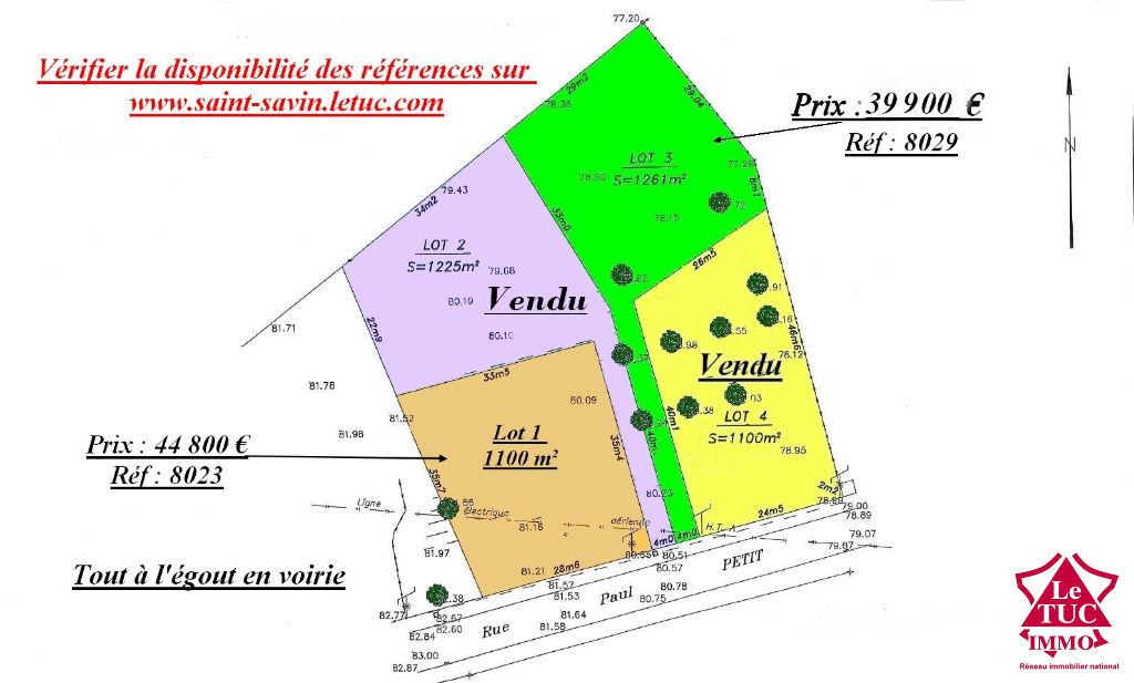 SAINT-SAVIN TERRAIN CONSTRUCTIBLE 1 261 M²