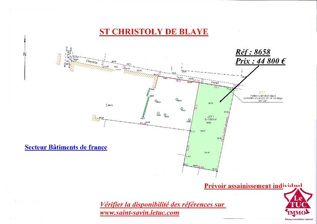 ST CHRISTOLY TERRAIN 1 300 M²
