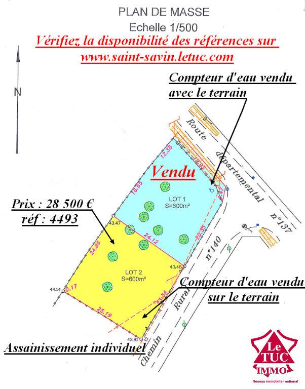ST CHRISTOLY DE BLAYE TERRAIN 600 M²