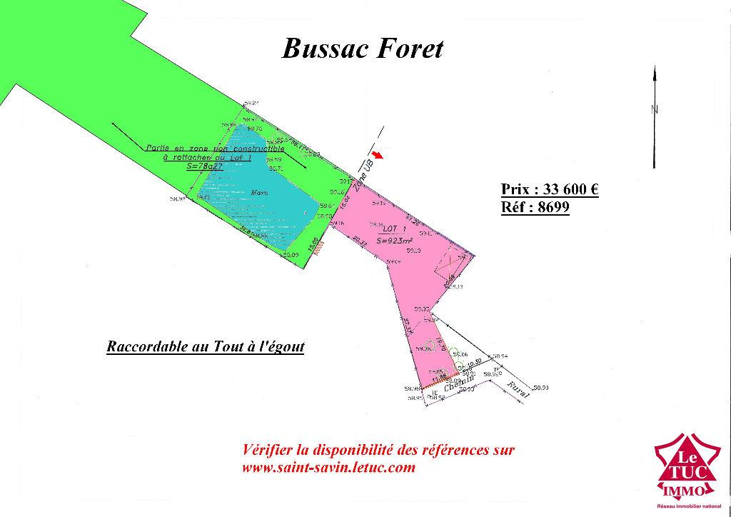 BUSSAC FORET TERRAIN 8 851 M²