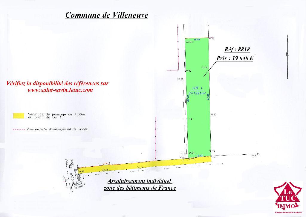 VILLENEUVE TERRAIN ENVIRON 1 291M²