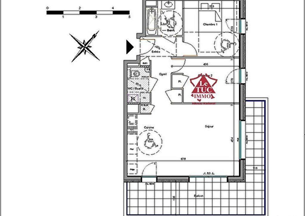 Appartement NEUF  3 pièce(s) 65.16 m2
