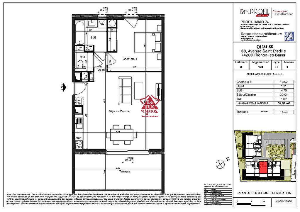 Appartement Thonon 2 pièce(s) 53 m2