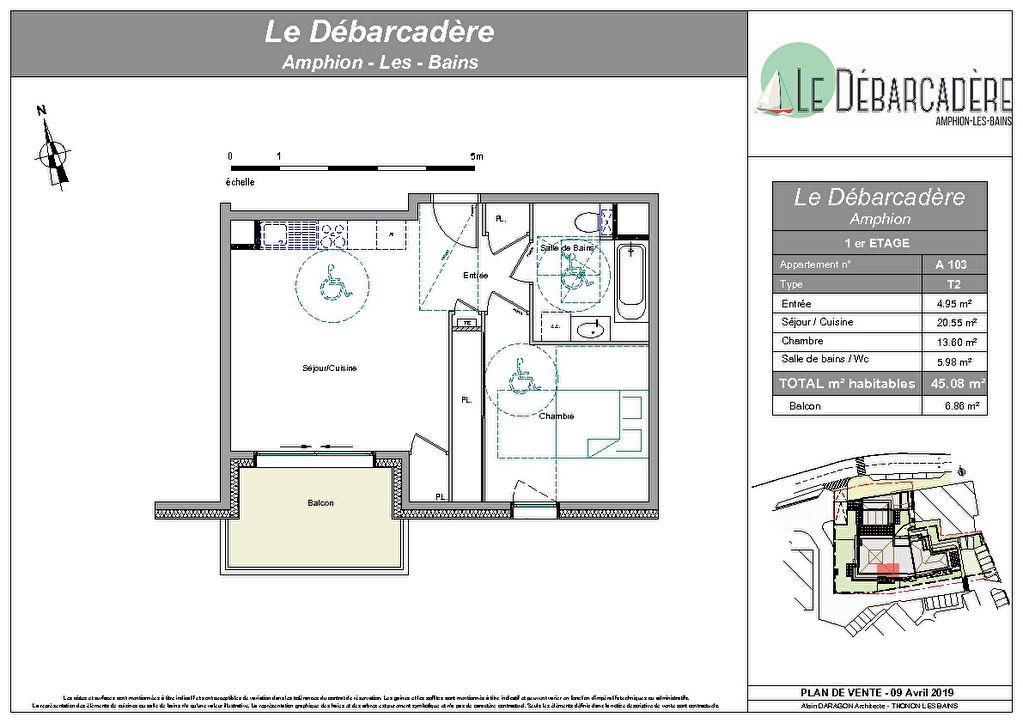 Publier, Le Débarcadère, Appartement de standing T2 A103, 45,03m2