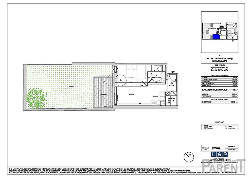 Appartement Chatillon 2 pièce(s) 40.60 m2