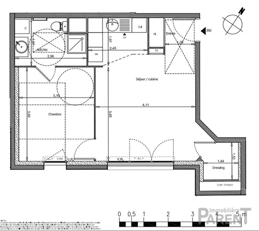 Appartement Vanves 2 pièce(s) 44.27 m2