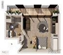 Appartement Issy-Les-Moulineaux 1 pièce 27.60m2 1/3