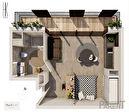 Appartement Issy-Lès-Moulineaux 1 pièce 27.60 m2 1/3